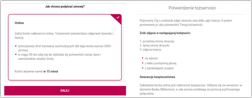Konto online bez kuriera w Millennium Banku